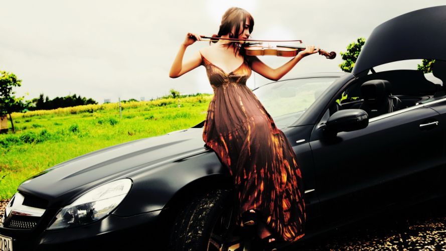 girl music violin g wallpaper