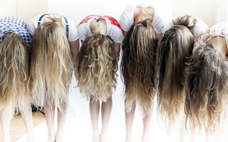 Girls Hair Dark Blonde wallpaper