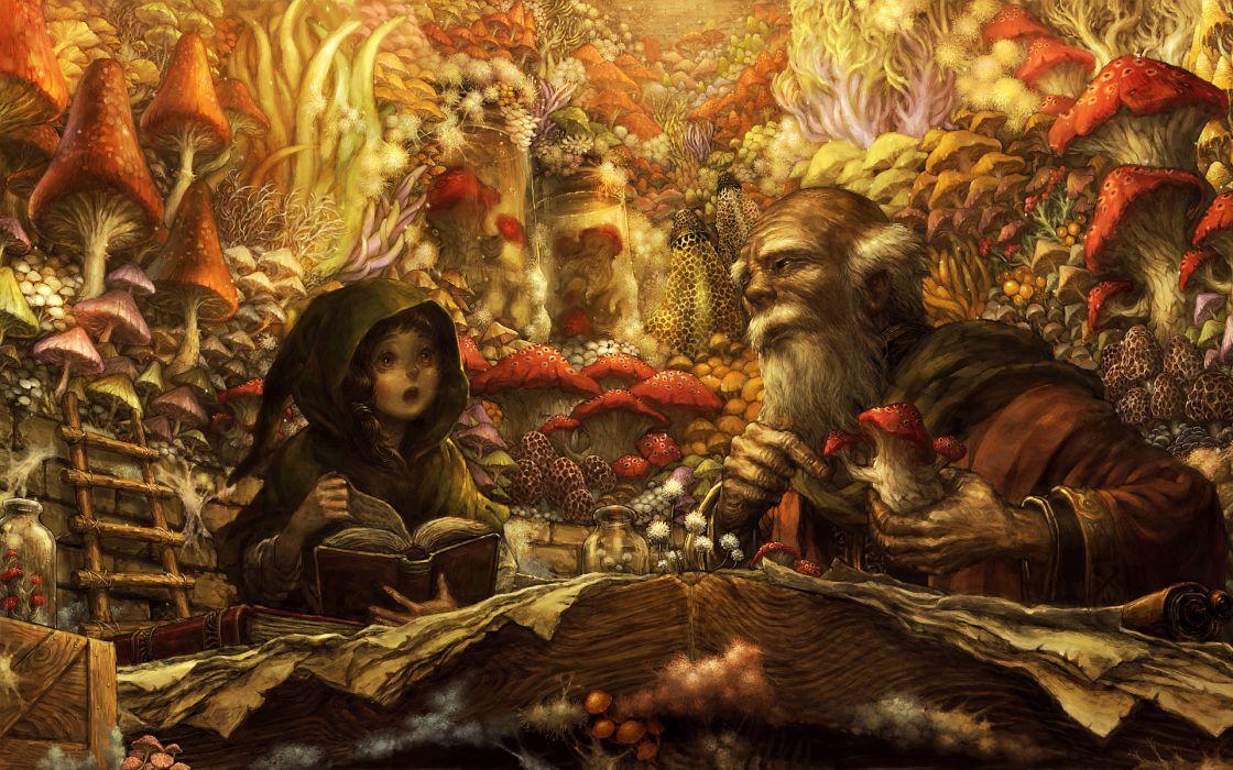 Illustrations to books Men Hood headgear Fantasy wallpaper