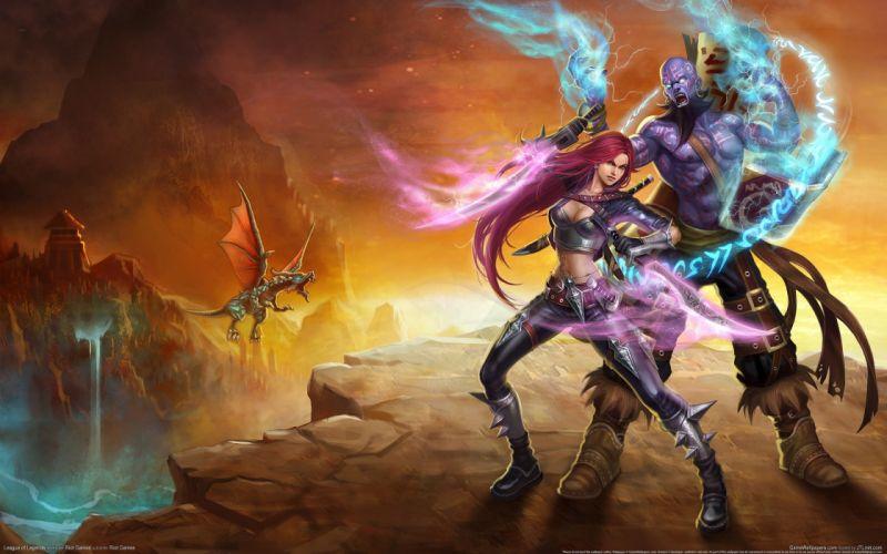 League of Legends Warrior Magic katarina Ryze Games Fantasy dragon wallpaper
