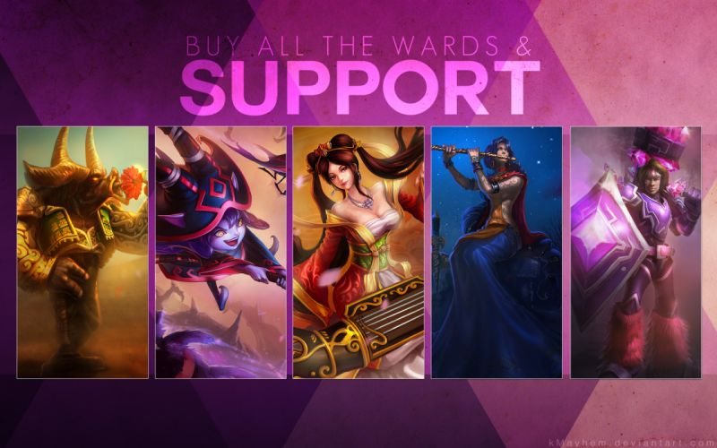 League of Legends Warrior support Games Fantasy wallpaper