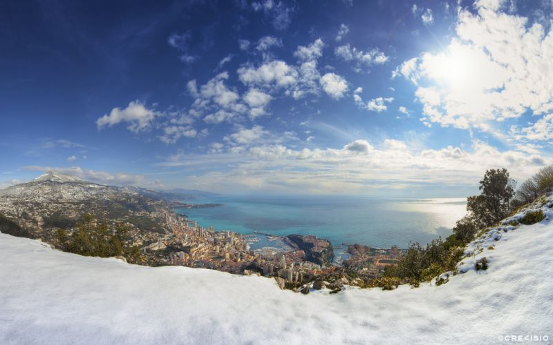 Monaco Ionako panorama winter wallpaper