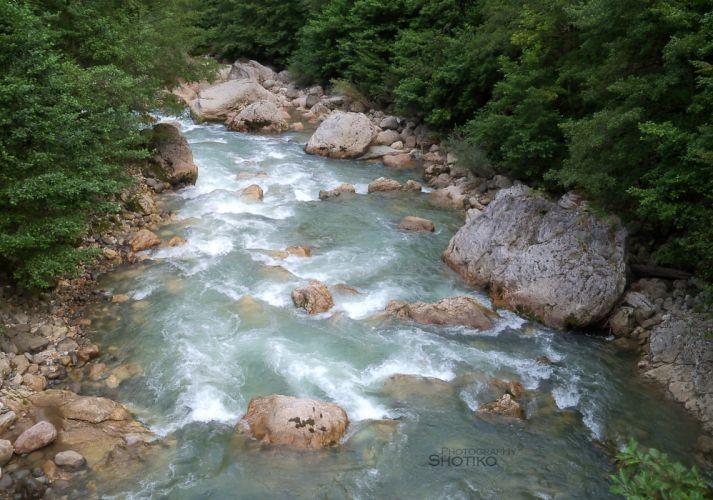 River Tekhuri Resort Lebarde wallpaper
