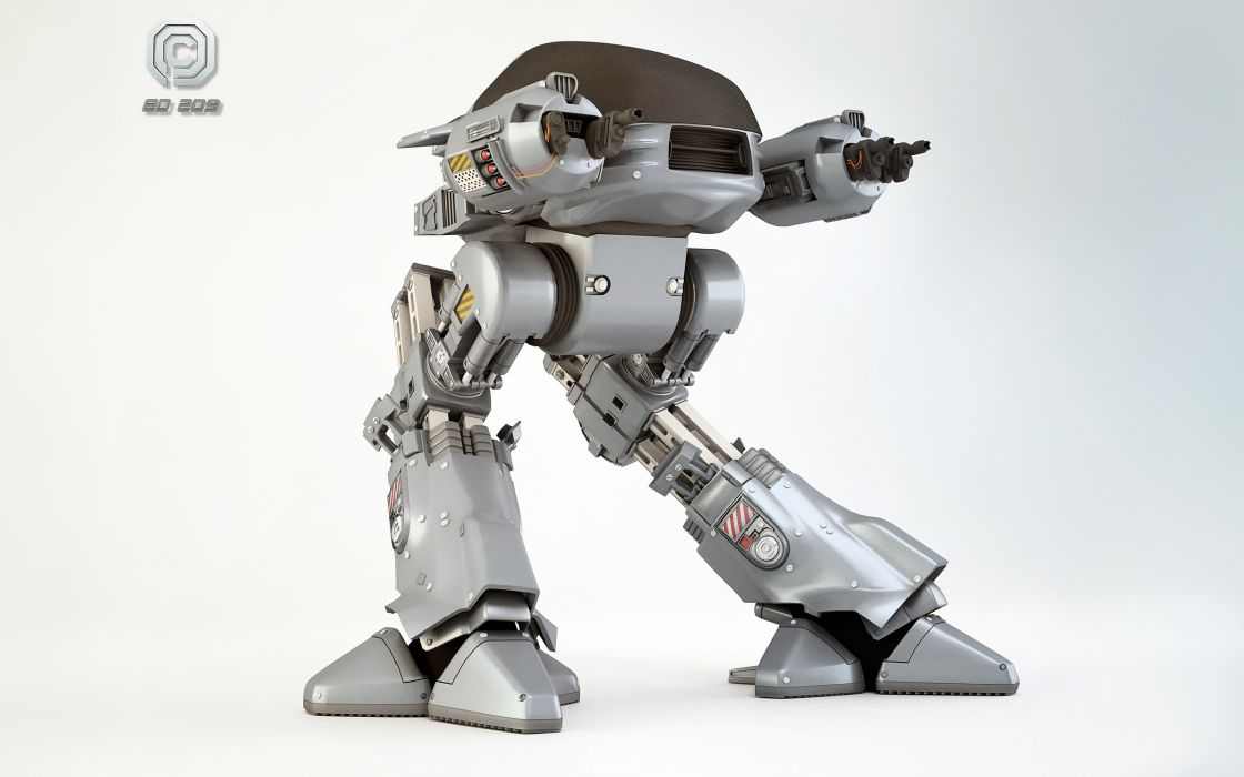 RoboCop ED-209 Movies sci-fi mecha wallpaper