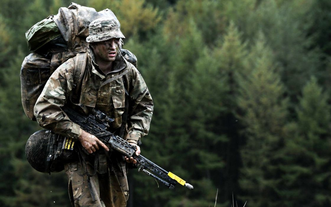soldiers british army weapon military g wallpaper