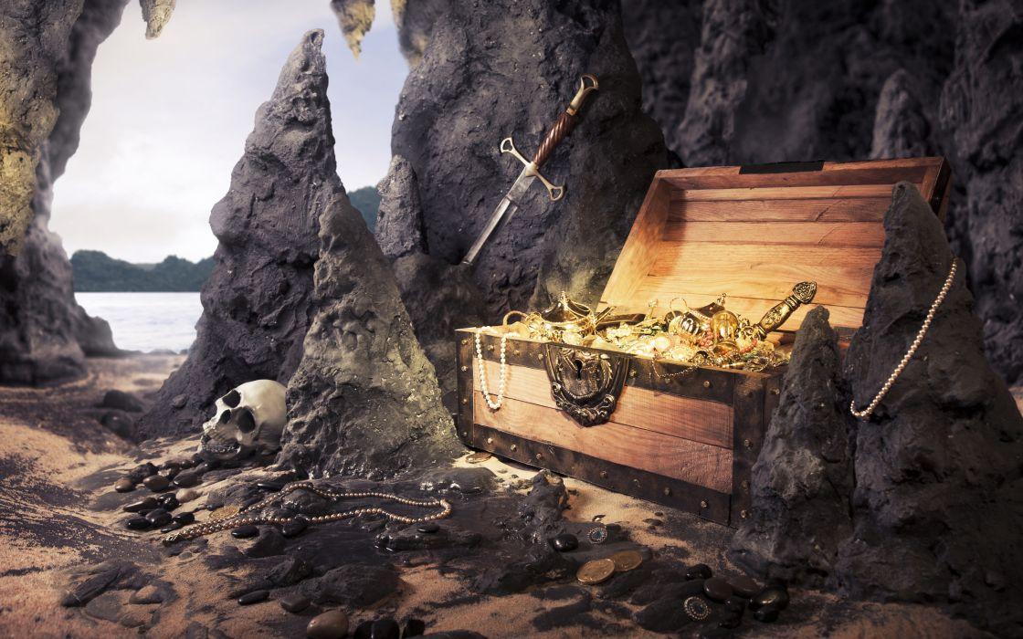 Sword treasure pirate wallpaper
