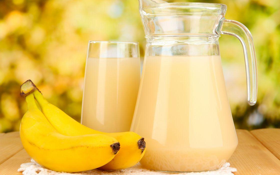 table napkin carafe glass bananas juice wallpaper