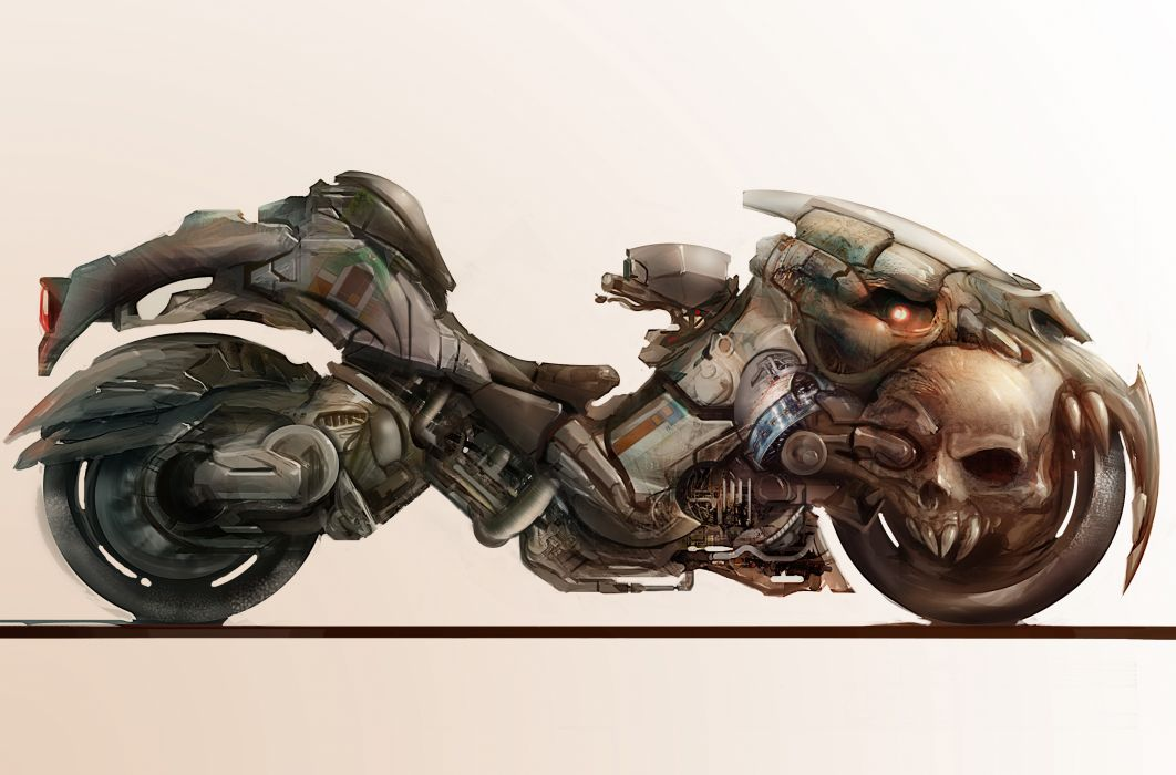 Technics Fantasy Motorcycles sci-fi wallpaper