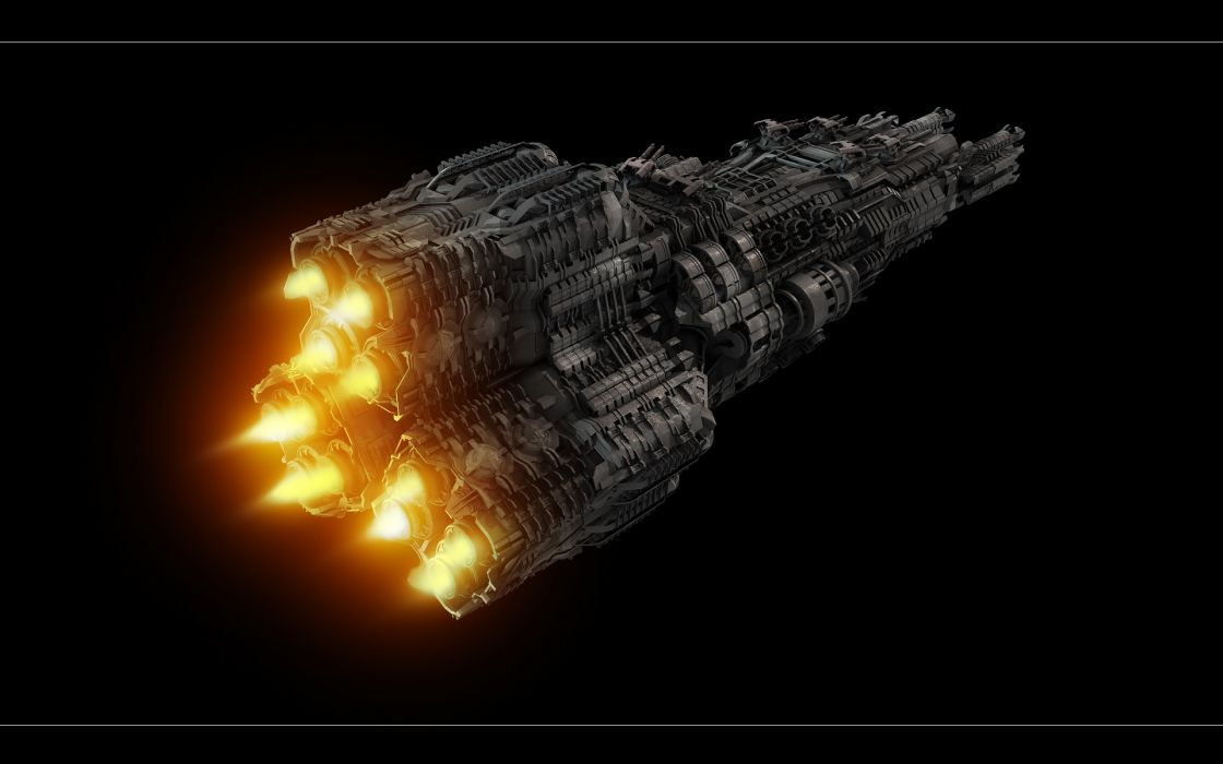 Technics Ships Fantasy Space wallpaper