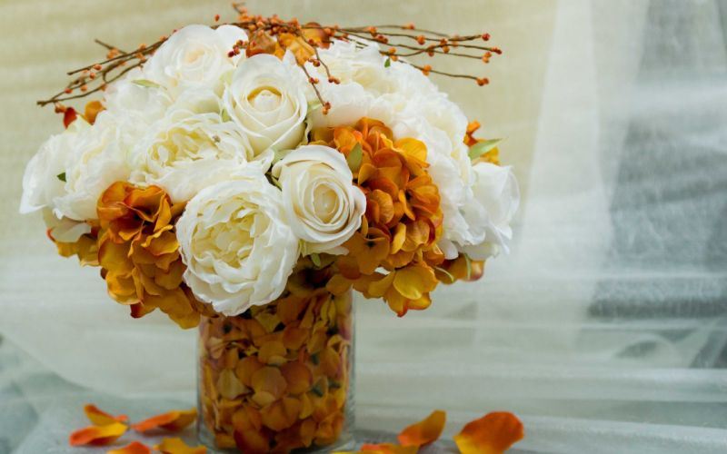 vase flowers bouquet wallpaper