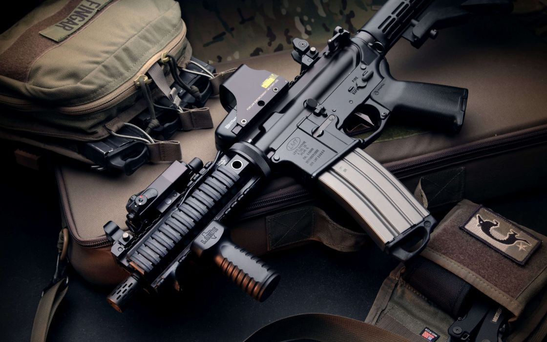 Weapon Bag Magpul Collimator M4 Machine Gun Military Police Wallpaper