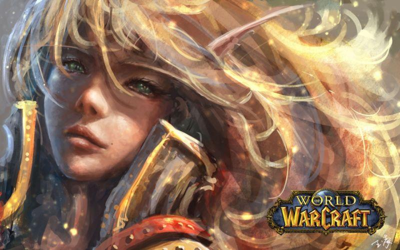 World of WarCraft ( WoW ) Elves Face Games Girls Fantasy elf wallpaper