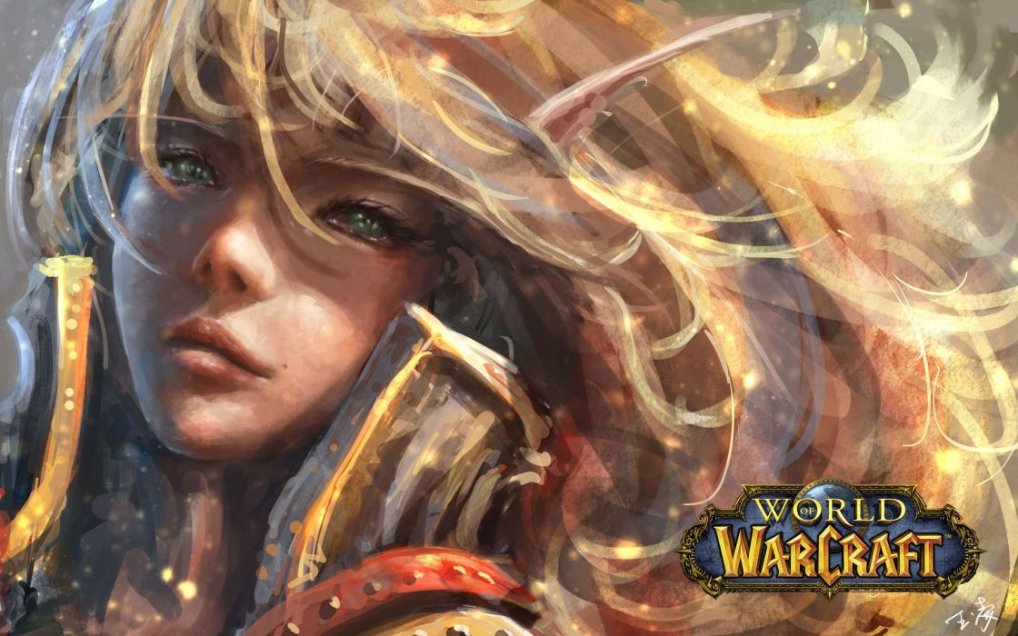 World of WarCraft ( WoW ) Elves Face Games Girls Fantasy elf wallpaper
