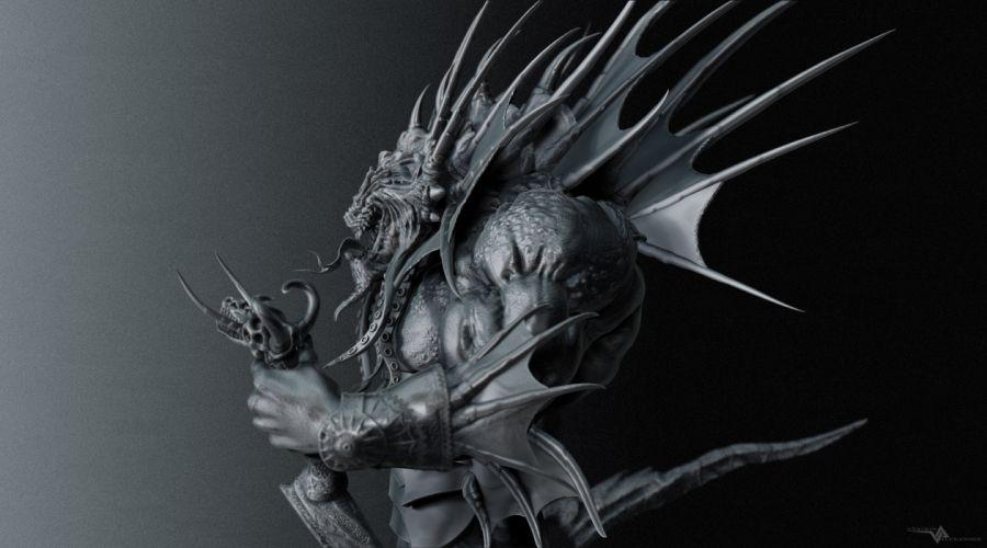 World of WarCraft ( WoW ) Monster Warrior Games 3D Graphics Fantasy wallpaper
