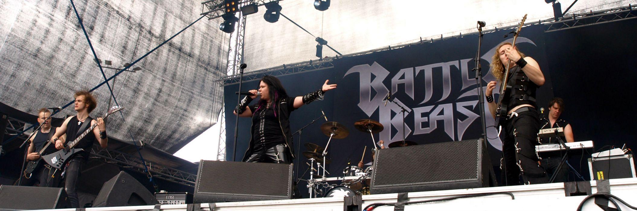 Battle Beast heavy metal concert guitar     rt wallpaper