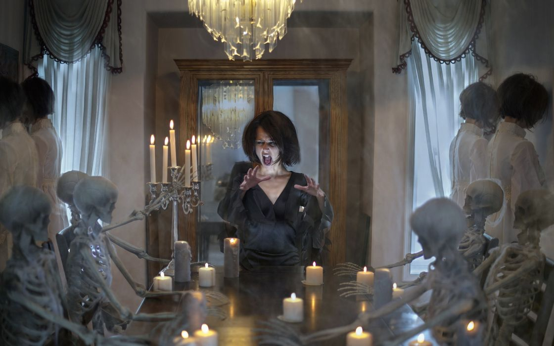 death spooky halloween seance spirit bones wallpaper