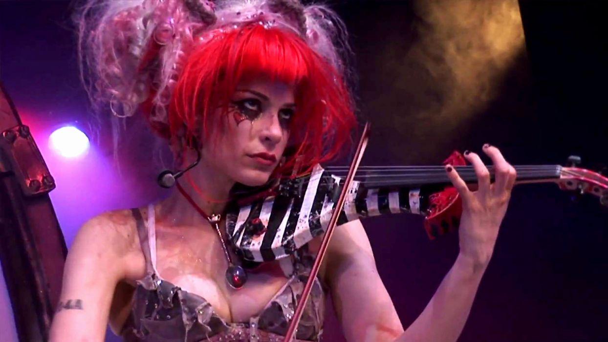 Emilie Autumn Liddell music singer songwriter poet violinist industrial rock redhead glam violin     hk wallpaper