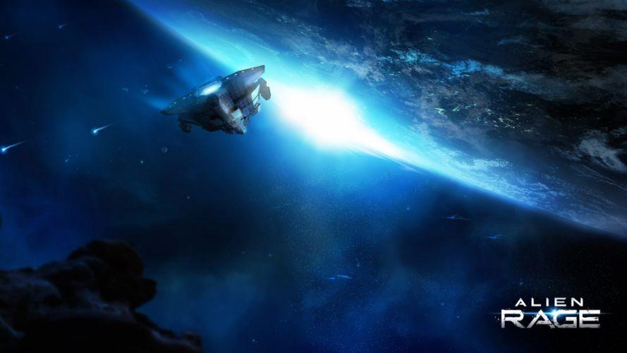 ALIEN RAGE sci-fi spaceship f wallpaper