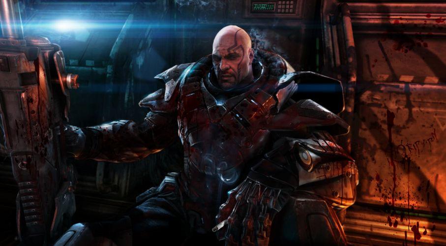 ALIEN RAGE sci-fi warrior o wallpaper