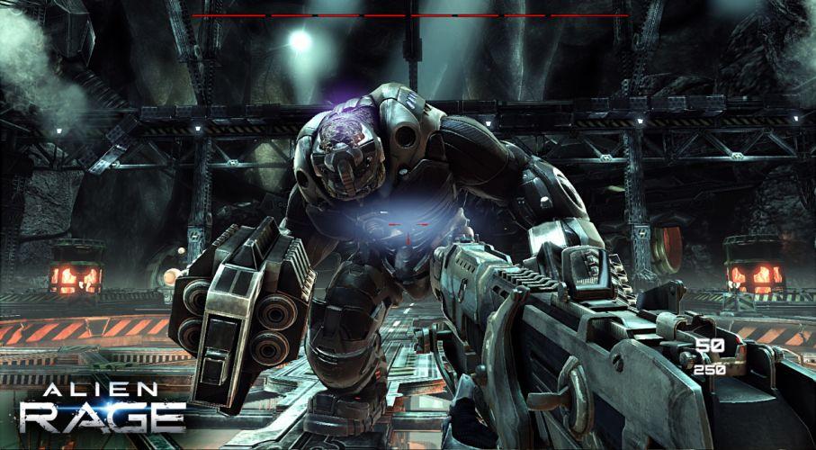 ALIEN RAGE sci-fi warrior battle weapon monster g wallpaper