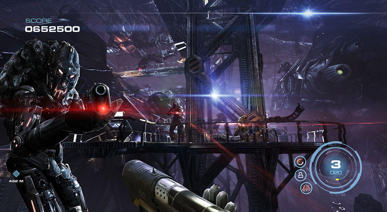 ALIEN RAGE sci-fi warrior weapon      e wallpaper