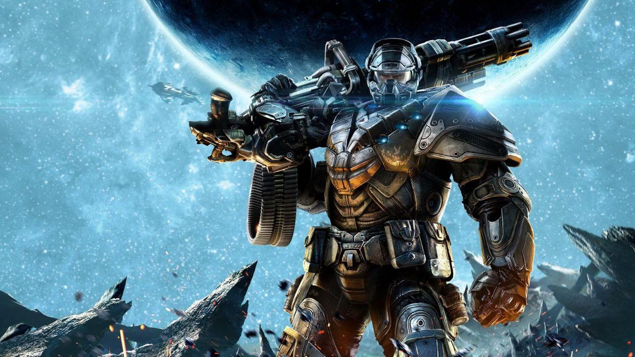 ALIEN RAGE sci-fi warrior weapon     ht wallpaper