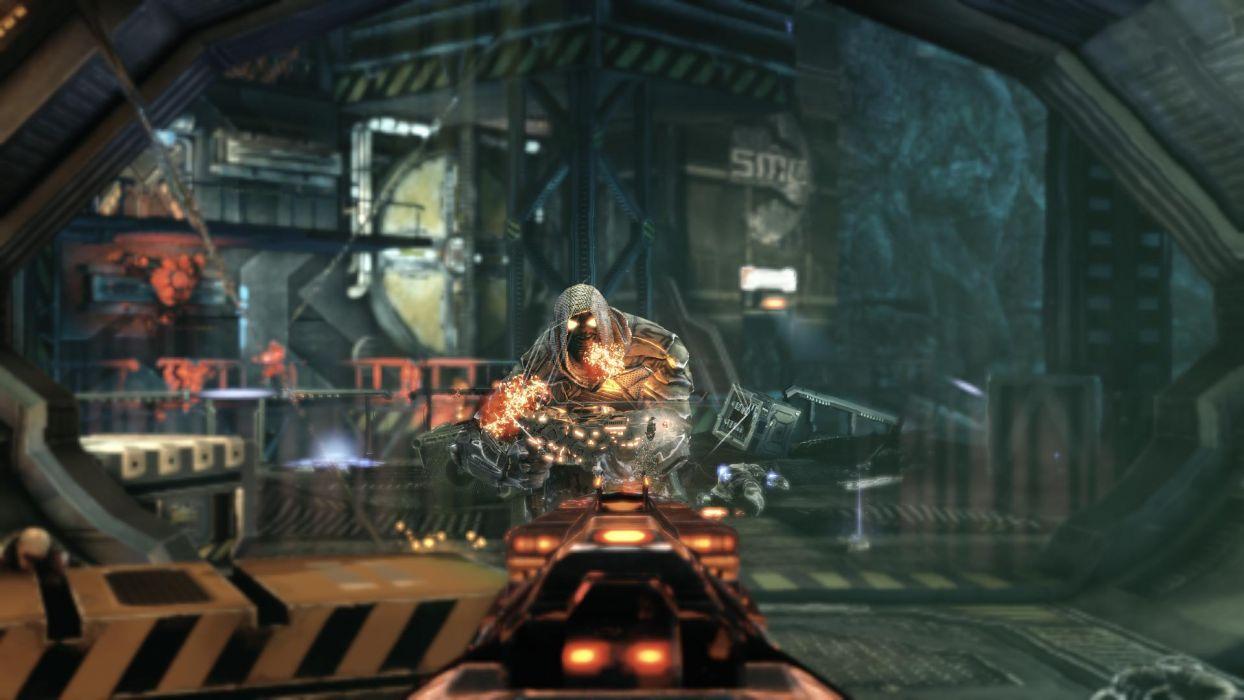 ALIEN RAGE sci-fi warrior weapon   f wallpaper