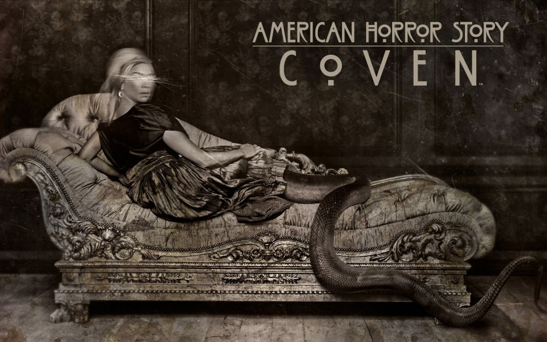 American Horror Story Creepy B-W dark horror demon dark wallpaper