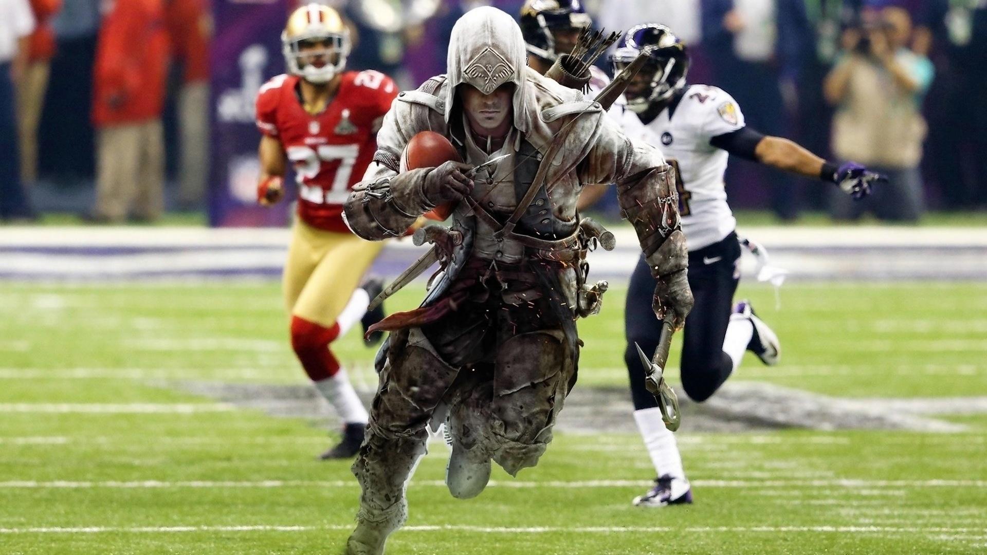 Assassins Creed Run Football NFL Wallpaper
