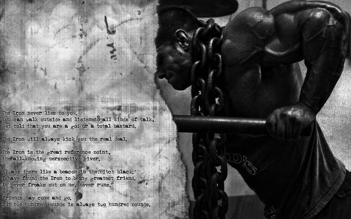 Bodybuilding B W Muscle Chain Training Fitness Iron Wallpaper