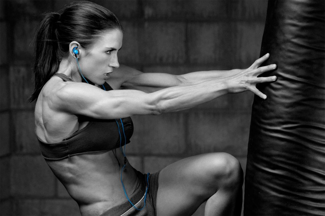 Brunette Exercise Colorsplash Muscle mma wallpaper