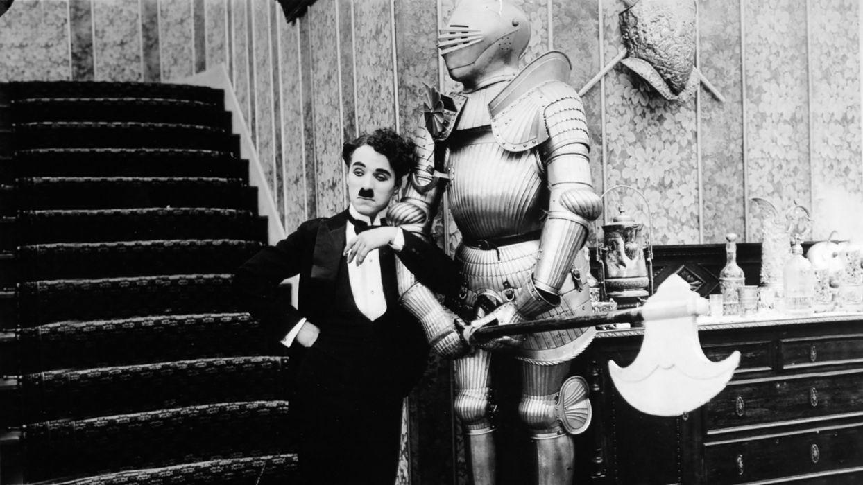 Charlie Chaplin B-W Armor wallpaper