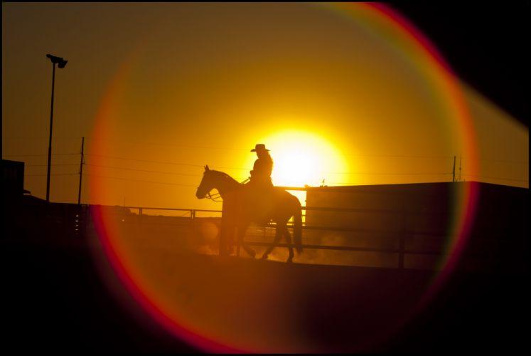 cowboy cowgirl mood horse sunset girl wallpaper