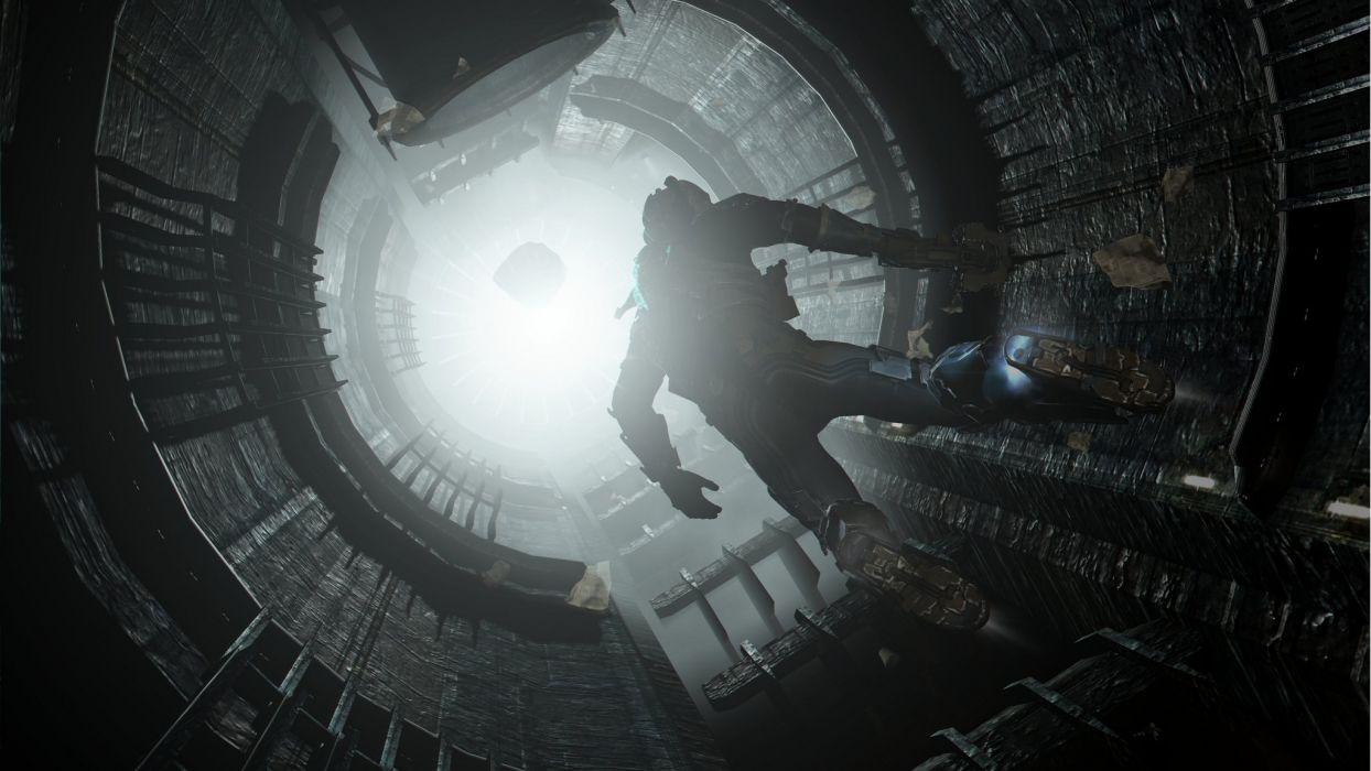 Dead Space Tunnel sci-fi wallpaper