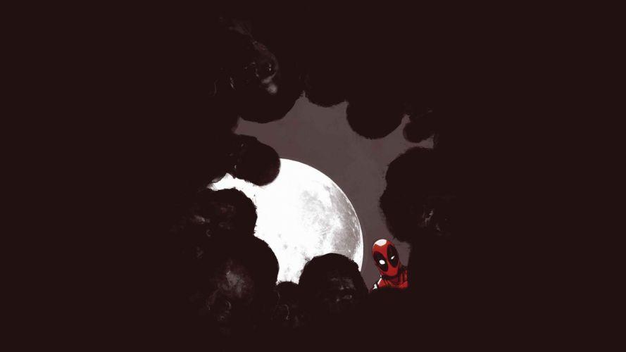 Deadpool Marvel Moon Night Zombie superhero wallpaper