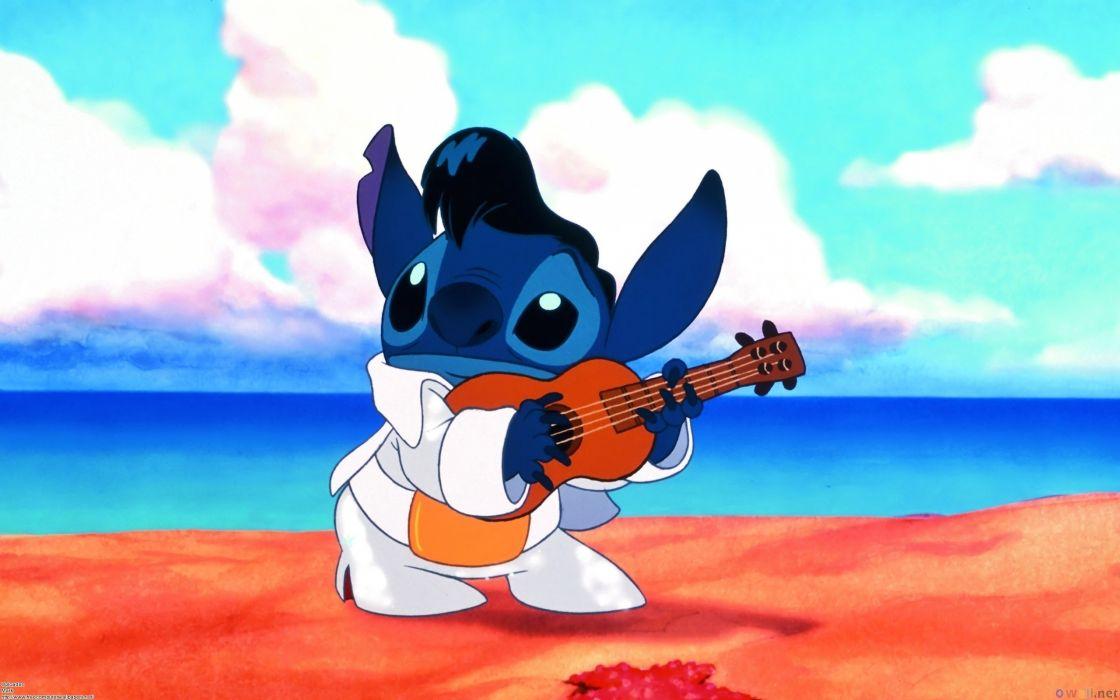 Disney Lilo & Stitch Guitar Cartoons wallpaper