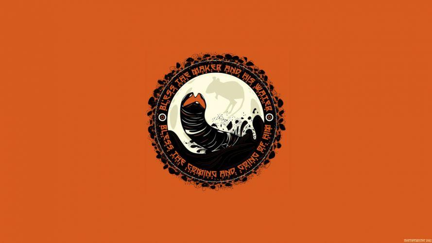 Dune Orange sci-fi wallpaper