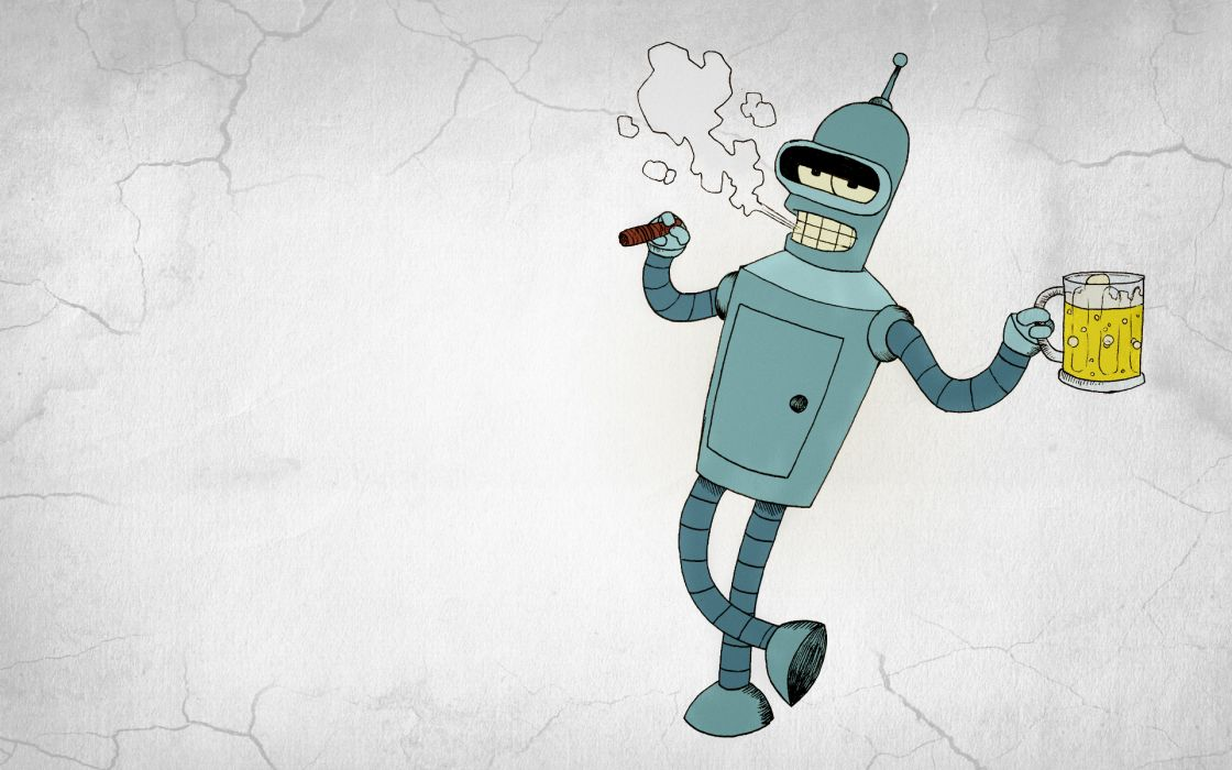 Futurama Bender Beer Vector Graphics