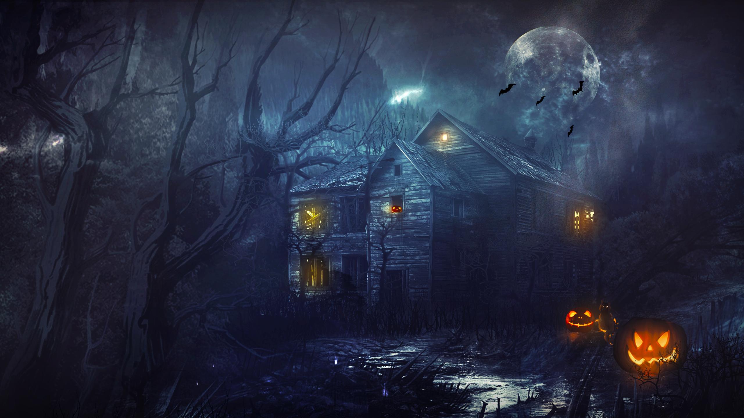 halloween moon wallpaper - photo #7