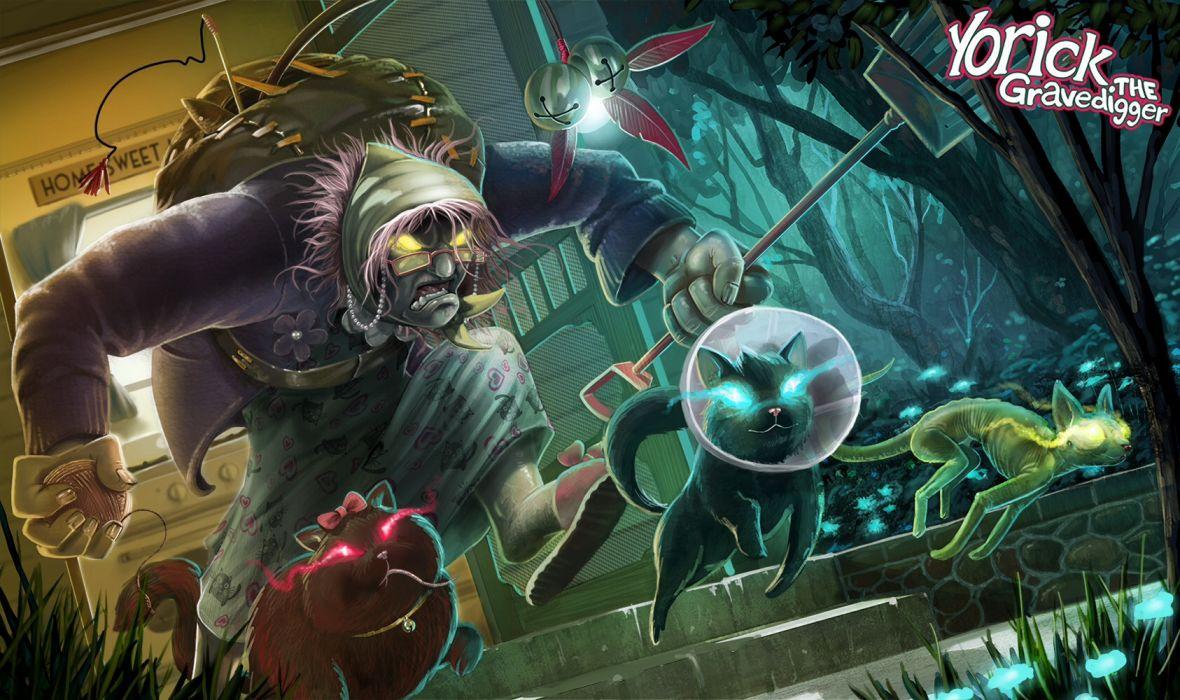 League of Legends dark zombie halloween fantasy wallpaper