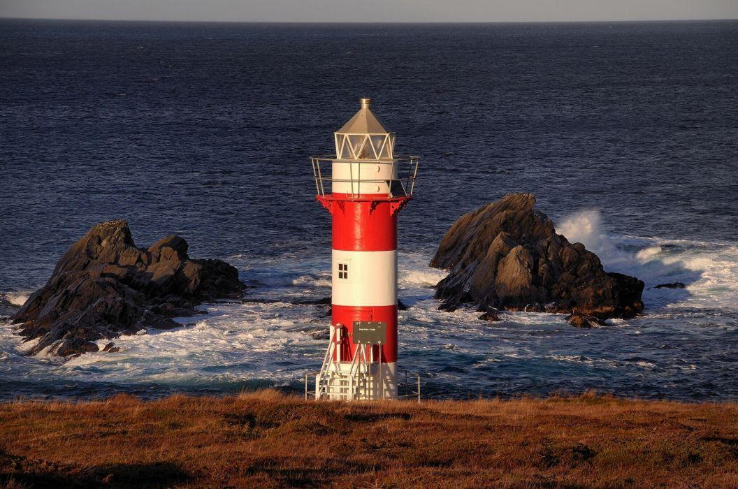 lighthouse Canada Atlantic Ocean wallpaper