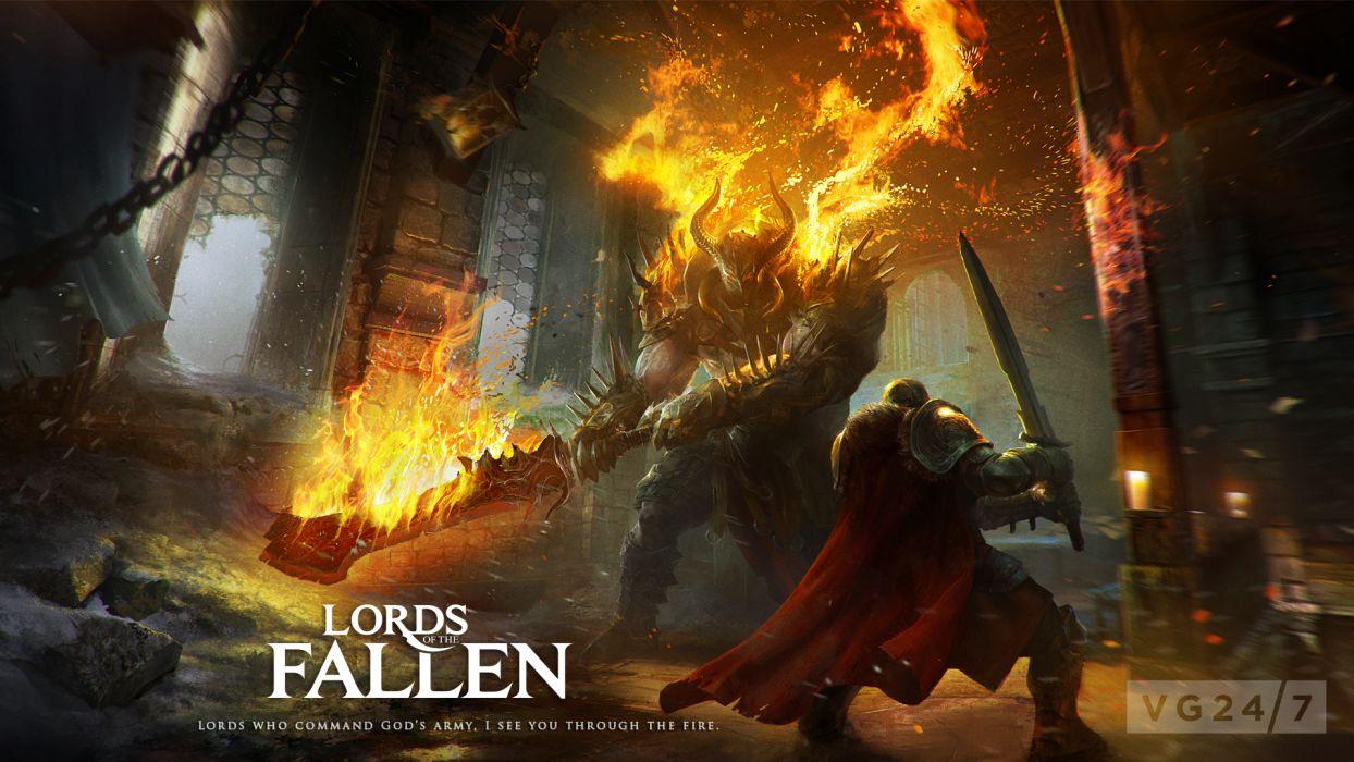 Lords of the Fallen fantasy warrior battle         t wallpaper