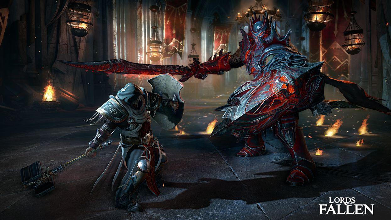 Lords of the Fallen fantasy warrior battle   h wallpaper