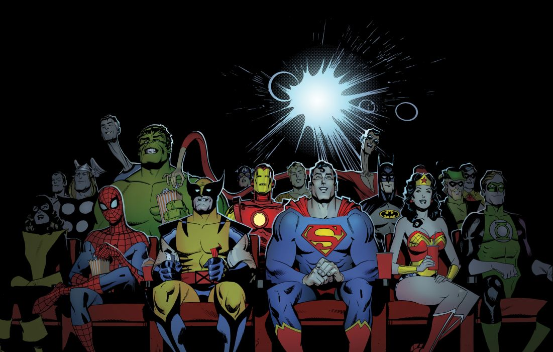 marvel d-c dc-comics superhero wallpaper