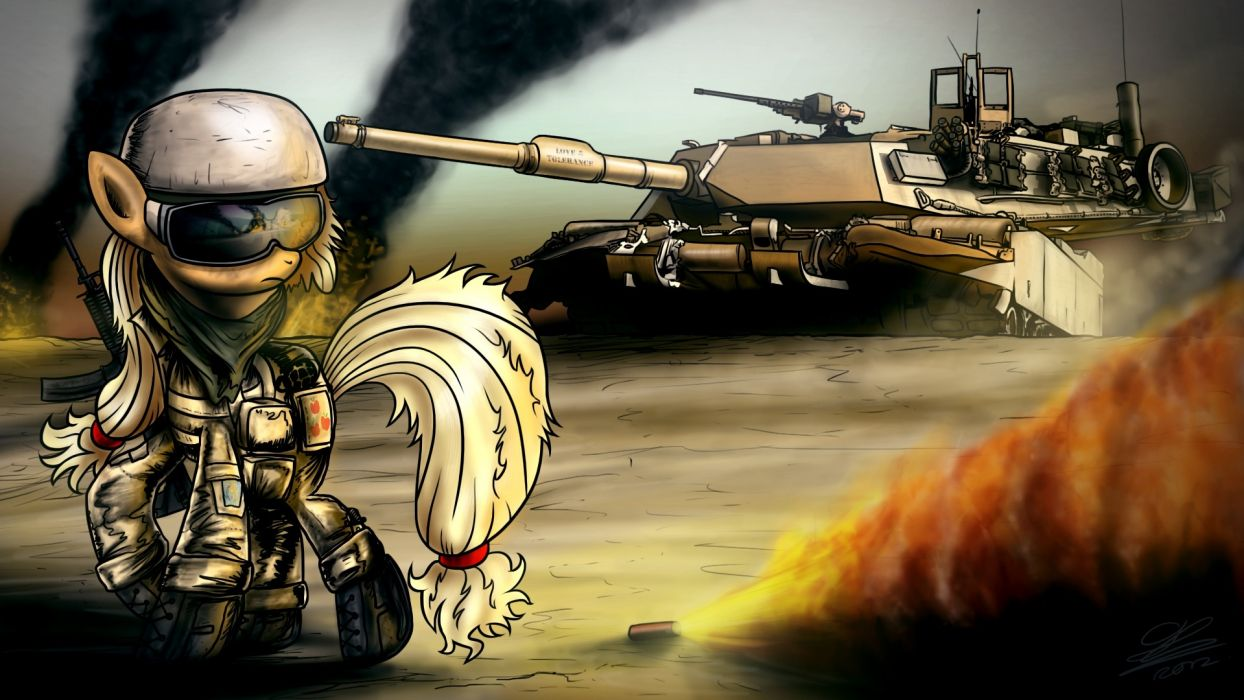 My Little Pony Soldiers Tanks Cartoons Army wallpaper