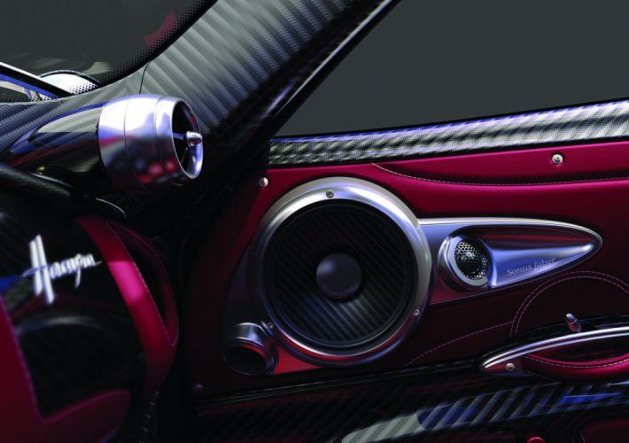 Pagani Huayra Speakers Interior Carbon Fiber music supercar e wallpaper