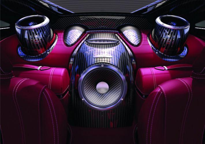 Pagani Huayra Speakers Interior Carbon Fiber music supercar wallpaper