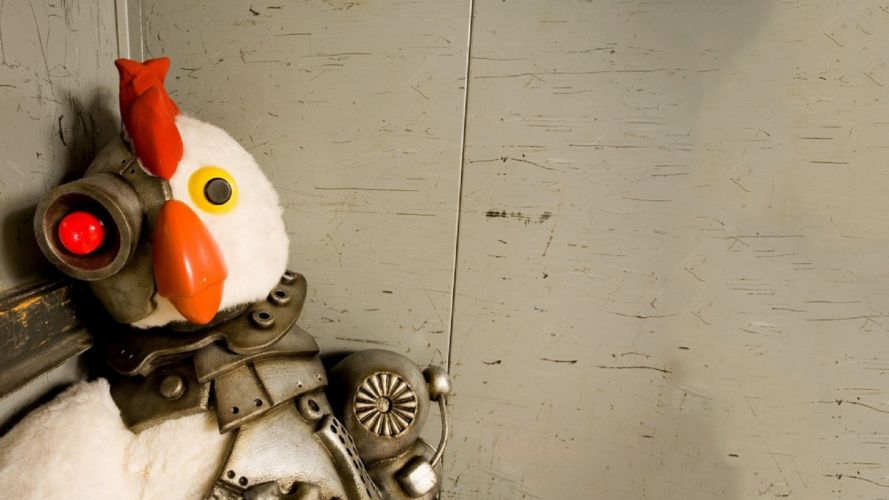 Robot Chicken sci-fi cyborg wallpaper