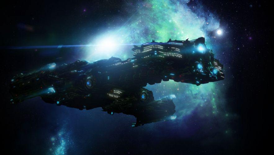 StarCraft Spaceship sci-fi wallpaper