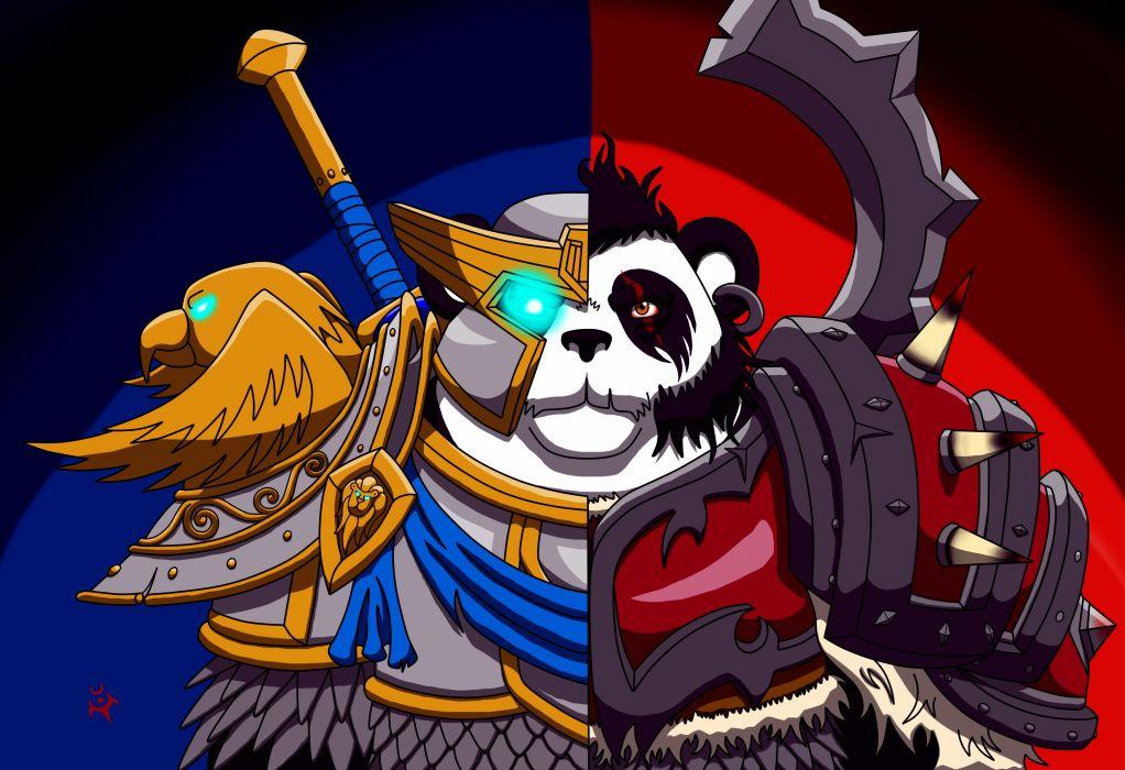 World of WarCraft ( WoW ) Panda Warrior Armor Games Fantasy wallpaper